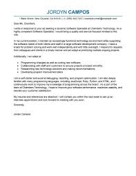 Best Software Specialist Cover Letter Examples Livecareer Rh Com