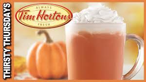 Starbucks Pumpkin Spice Frappuccino Bottle by Pumpkin Spice Latte From Tim Hortons Thirsty Thursdays