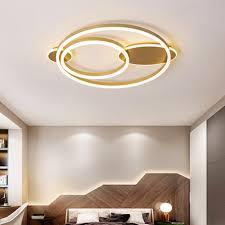 moderne decke licht schlafzimmer le luxus stil led decke le warme und romantische goldene runde kreative persönlichkeit studie le