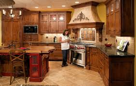 Gorgeous Images Of Kitchen Decoration With Black Granite Counter Tops Fascinating Rustic L Shape