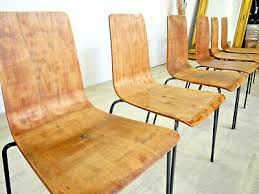 70er vintage 6 x esszimmer stühle industriedesign
