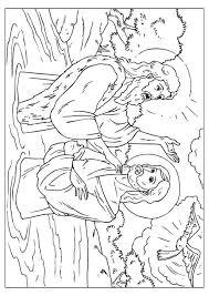 Coloring Page Jesus Baptized