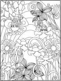 Great Flower Garden Coloring Page 29 With Additional Pages For Adults