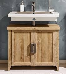 waschbeckenunterschrank waschtisch alteiche holz