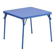 amazon com flash furniture kids blue folding table kitchen dining