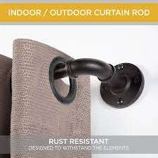 Kenney Manufacturing Curtain Rods by Kenney Adler Outdoor Curtain Rod Black Walmart Com