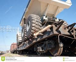 100 Railroad Trucks Transport Of Heavy Mining By Rail Stock Image Image Of