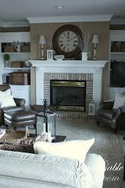 how homey this room looks and i also think the mantle