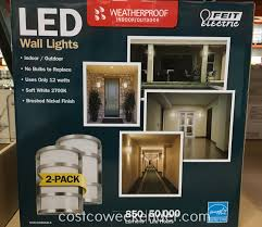 feit electric led wall sconce lights 2 pack costco weekender