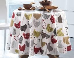 nappe toile ciree au metre toile cirée poules à motifs becquet