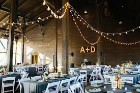 Rustic Wedding Lit Up With String Lights
