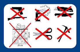 Security Information Objects Forbidden In Cabin Luggage