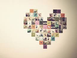 Use Clipped Pictures Photos Or Artwork To Design The Heart Adhere Wall A Cork Board In Picture Frame Etc