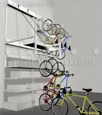 wall mounted hanging bike racks push button overhead bicycle
