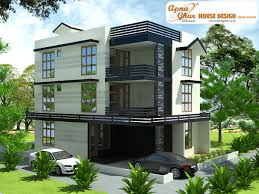 Modern Triplex (3 Floor) House Design. Area: 240sq Mts (12m X 20m ... Side Elevation View Grand Contemporary Home Design Night 1 Bedroom Modern House Designs Ideas 72018 December 2014 Kerala And Floor Plans Four Storey Row House With An Amazing Stairwell 25 More 3 Bedroom 3d Floor Plans The Sims Designs Royal Elegance Youtube Story Plan And Elevation 2670 Sq Ft Home Modern 3d More Apartmenthouse With Alfresco Area Celebration Homes Three Bungalow Elevations Single