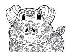 Coloring Page Pig Farm Animal