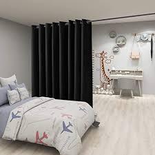 floweroom raumteiler vorhang 2 5m breit x 2 4m lang schwarz verdunkelungsvorhänge für schlafzimmer trennwand wohnzimmer gemeinsam büro große