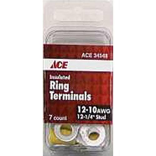 Ace 12-10 Awg Insulated Ring - Yellow, .25""