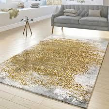 designer teppich wohnzimmer kurzflor teppich florale ornamente grau gold gelb größe 200x290 cm