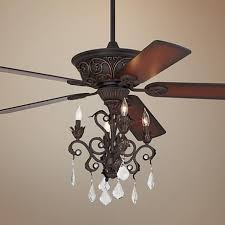 Casa ContessaTM Dark Bronze Chandelier Ceiling Fan Above Dining Room Table Or My Bedroom 3