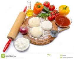 Download Ingredients To Make A Pizza Stock Photo