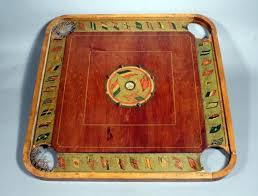 Lot 56 Of 425 Antique Carrom Archarena Board Flags The Nation D 1900s Game 29 X