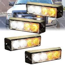 100 Truck Emergency Lights 4pc 4W LED Fire Tow EMS Snow Plow Vehicle Warning Strobe Light