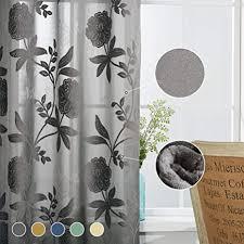 beflockte vorhänge mit blumenmuster samt vorhänge für wohnzimmer mit großem floralem chic design vorhänge für esszimmer multi weiches blumenmuster