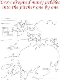 Thirsty Crow Story Coloring Pages For Kids