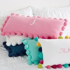 Pom Pom Organic Pillow Cover
