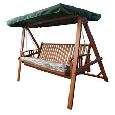 garden swing bed with cushion canopy temple webster