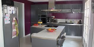 deco interieur cuisine cuisine prune
