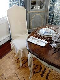 Inspiring Furniture Linen Slipcovers For Dining Chairs Slipcovered
