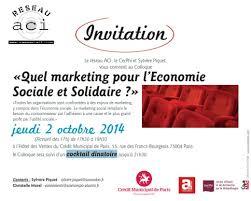 chambre r馮ionale de l 馗onomie sociale et solidaire colloque quel marketing pour l economie sociale et solidaire