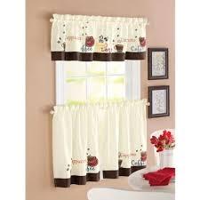 Walmart Brown Kitchen Curtains by Kitchen Curtains With Coffee Theme Kutsko Kitchen