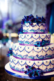 Cake Amazing Royal Blue And Purple Wedding Cake Ideas Colors Intricate Turquoise Full