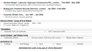 HGV Driver CV Example Template