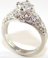 Impressive Wedding Rings Vintage Style 6 Around Rustic