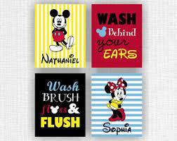 Mickey And Minnie Mouse Bathroom Ideas by Disney Bathroom Etsy