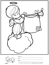 Angel Coloring Pictures For Adults Pages Online Precious Moments Christmas Ornaments Printable Full Size