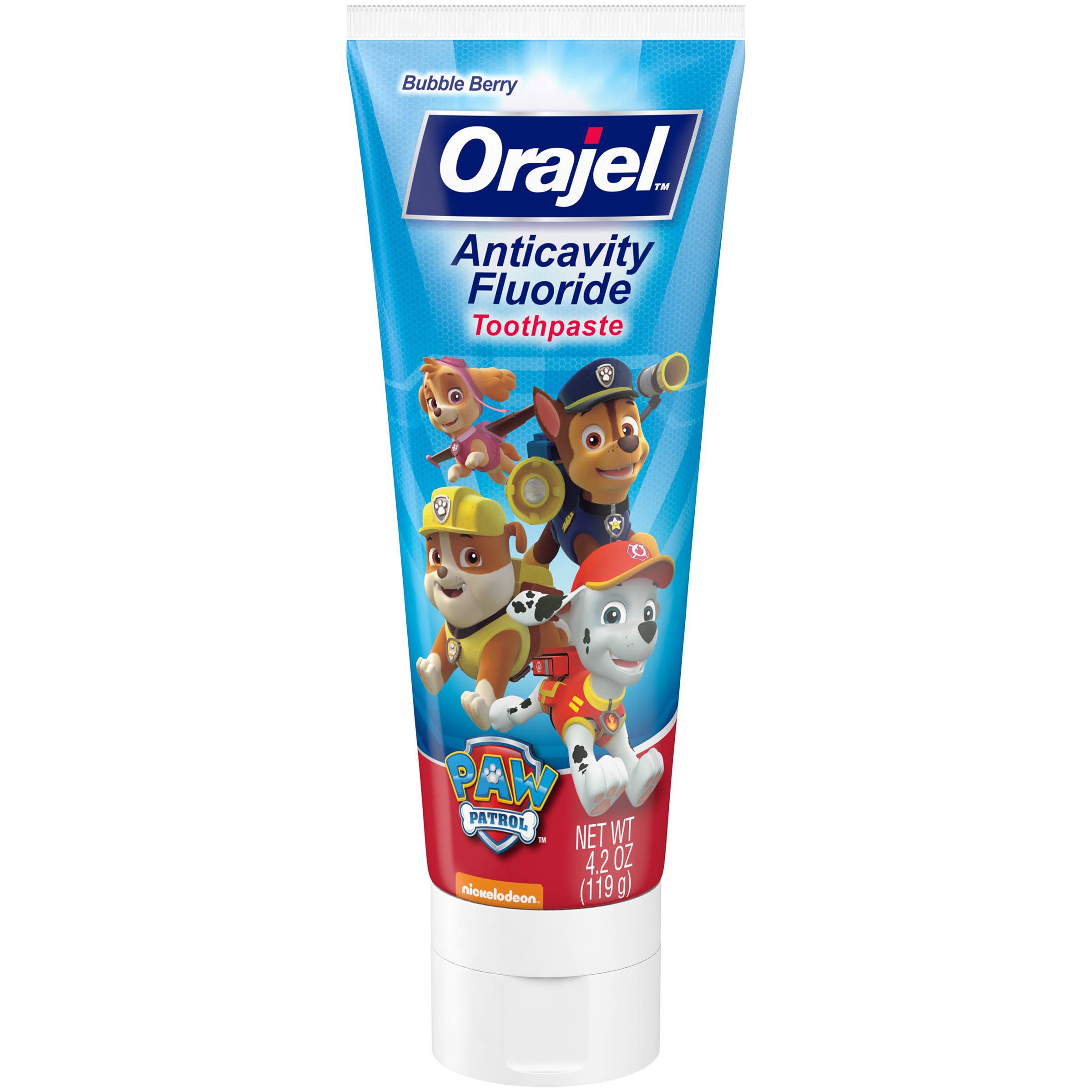 Orajel Paw Patrol Anticavity Fluoride Toothpaste - 4.2oz, Bubble Berry