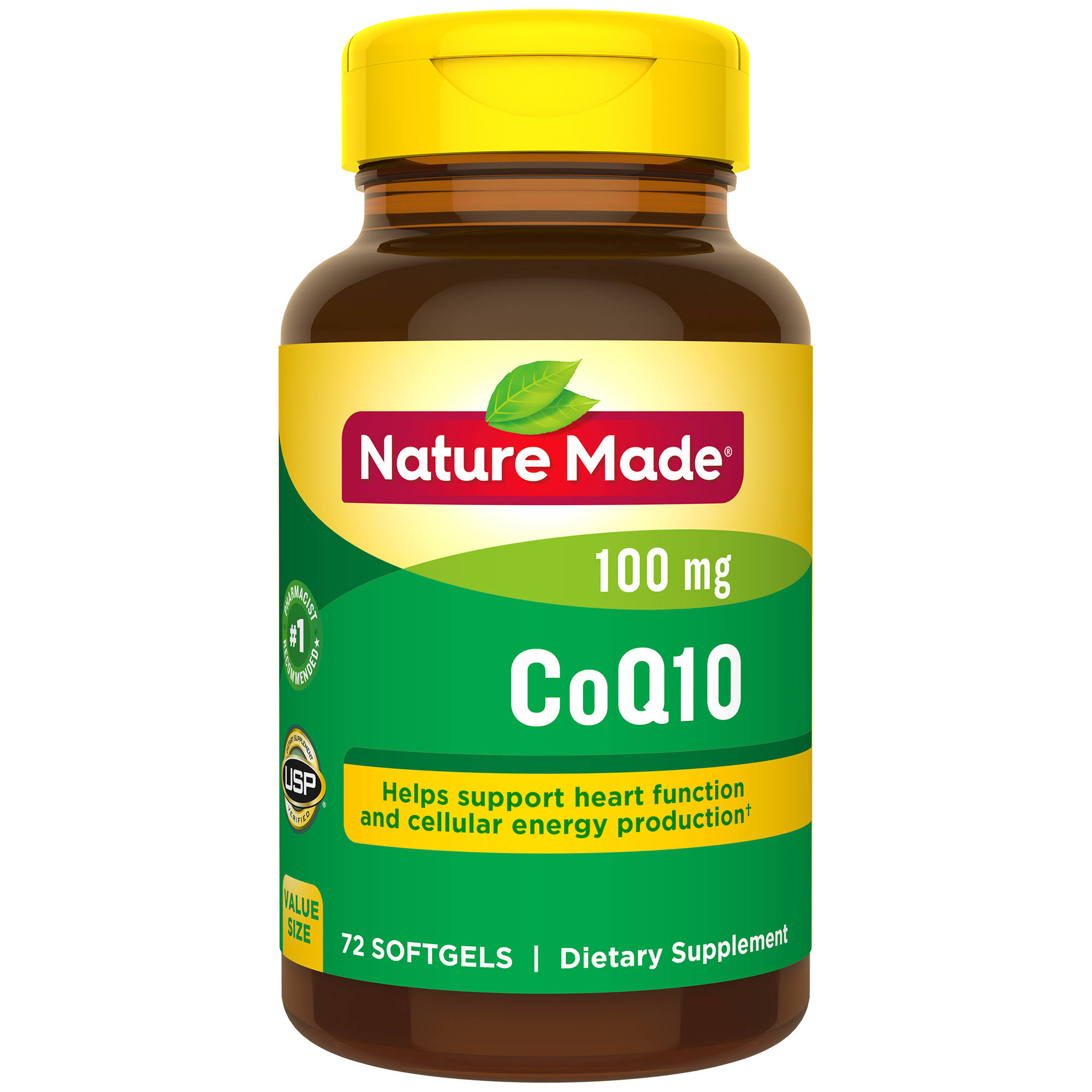 Nature Made Coq10 Dietary Supplement - 100mg, Orange, 72ct