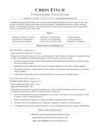 Sample Resume For Kitchen Helper Electrical A Journeyman Electrician
