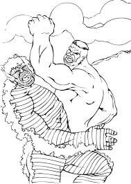 Hulk Fights With Abomination Coloring Page