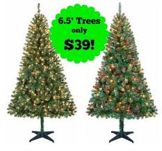 Holiday Time 6 Pre Lit Christmas Trees Only 39 Pertaining To Black Friday