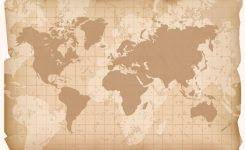 Vintage World Map Vector Download Free Art Stock Graphics 700 X