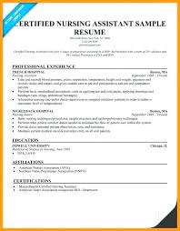 Moa Resume Certified Nursing Assistant Sample No Experience Templates For Clinical Nurse Consultant Template