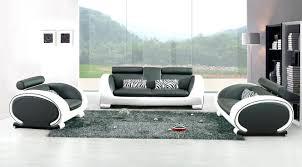 canapé design blanc salon moderne noir et blanc