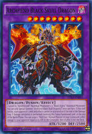 archfiend black skull dragon yu gi oh fandom powered by wikia
