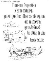 Bible Spanish Coloring Pages Free Printable